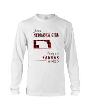 NEBRASKA GIRL LIVING IN KANSAS WORLD Long Sleeve Tee thumbnail