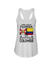 LIVE IN FLORIDA BEGAN IN COLOMBIA Ladies Flowy Tank thumbnail
