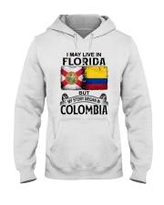 LIVE IN FLORIDA BEGAN IN COLOMBIA Hooded Sweatshirt thumbnail