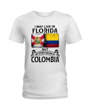 LIVE IN FLORIDA BEGAN IN COLOMBIA Ladies T-Shirt thumbnail