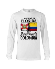 LIVE IN FLORIDA BEGAN IN COLOMBIA Long Sleeve Tee thumbnail