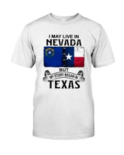 LIVE IN NEVADA BEGAN IN TEXAS Classic T-Shirt tile