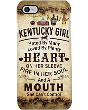 KENTUCKY GIRL A MOUTH SHE CAN'T CONTROL Phone Case i-phone-8-case