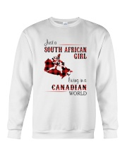 SOUTH AFRICAN GIRL LIVING IN CANADIAN  WORLD Crewneck Sweatshirt thumbnail