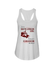 SOUTH AFRICAN GIRL LIVING IN CANADIAN  WORLD Ladies Flowy Tank thumbnail
