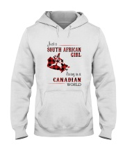 SOUTH AFRICAN GIRL LIVING IN CANADIAN  WORLD Hooded Sweatshirt thumbnail