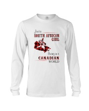 SOUTH AFRICAN GIRL LIVING IN CANADIAN  WORLD Long Sleeve Tee thumbnail