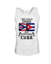 LIVE IN OHIO BEGAN IN CUBA Unisex Tank thumbnail