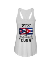 LIVE IN OHIO BEGAN IN CUBA Ladies Flowy Tank thumbnail