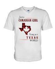 CANADIAN GIRL LIVING IN TEXAS WORLD V-Neck T-Shirt thumbnail