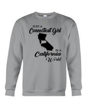 JUST A CONNECTICUT GIRL IN A CALIFORNIA WORLD Crewneck Sweatshirt thumbnail