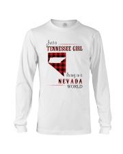 TENNESSEE GIRL LIVING IN NEVADA WORLD Long Sleeve Tee thumbnail