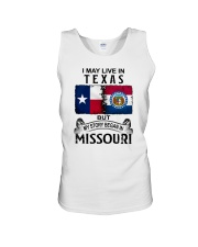 LIVE IN TEXAS BEGAN IN MISSOURI Unisex Tank thumbnail