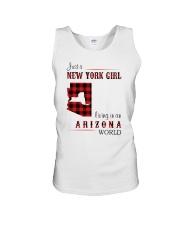NEW YORK GIRL LIVING IN ARIZONA WORLD Unisex Tank thumbnail