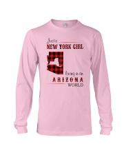NEW YORK GIRL LIVING IN ARIZONA WORLD Long Sleeve Tee thumbnail