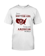 SCOTTISH GIRL LIVING IN AMERICAN WORLD Classic T-Shirt front