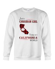 CANADIAN GIRL LIVING IN CALIFORNIA WORLD Crewneck Sweatshirt thumbnail