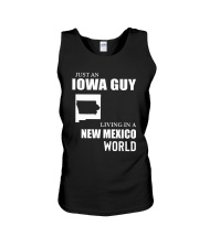 JUST AN IOWA GUY LIVING IN NEW MEXICO WORLD Unisex Tank thumbnail