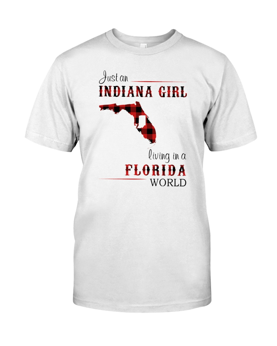 INDIANAN GIRL LIVING IN FLORIDA WORLD Classic T-Shirt