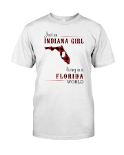 INDIANAN GIRL LIVING IN FLORIDA WORLD Classic T-Shirt front