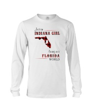 INDIANAN GIRL LIVING IN FLORIDA WORLD Long Sleeve Tee tile