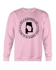 WISCONSIN GIRL LIVING IN ALABAMA WORLD Crewneck Sweatshirt thumbnail