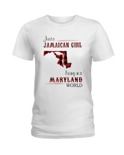 JAMAICAN GIRL LIVING IN MARYLAND WORLD Ladies T-Shirt thumbnail