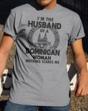 I'M THE HUSBAND OF A DOMINICAN WOMAN Classic T-Shirt apparel-classic-tshirt-lifestyle-28