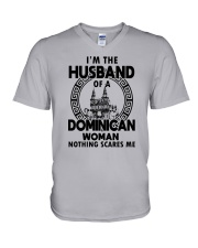 I'M THE HUSBAND OF A DOMINICAN WOMAN V-Neck T-Shirt thumbnail