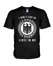 GERMANY LIVES IN ME V-Neck T-Shirt thumbnail