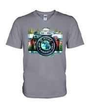 MICHIGAN AND I THINK TO MYSELF V-Neck T-Shirt thumbnail