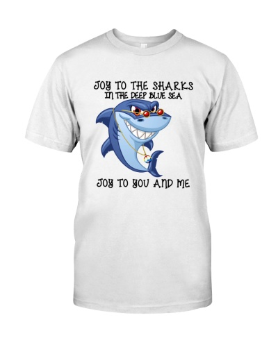 JOY TO THE SHARKS IN THE DEEP BLUE SEA
