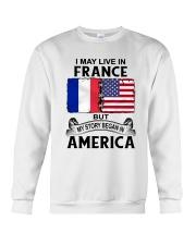 LIVE IN FRANCE BEGAN IN AMERICA ROOT WOMEN Crewneck Sweatshirt thumbnail