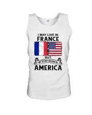 LIVE IN FRANCE BEGAN IN AMERICA ROOT WOMEN Unisex Tank thumbnail