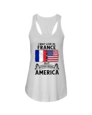 LIVE IN FRANCE BEGAN IN AMERICA ROOT WOMEN Ladies Flowy Tank thumbnail