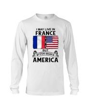 LIVE IN FRANCE BEGAN IN AMERICA ROOT WOMEN Long Sleeve Tee thumbnail
