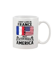 LIVE IN FRANCE BEGAN IN AMERICA ROOT WOMEN Mug thumbnail
