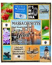 "MASSACHUSETTS IT'S IN MY DNA Fleece Blanket - 50"" x 60"" thumbnail"