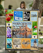 """MASSACHUSETTS IT'S IN MY DNA Quilt 50""""x60"""" - Throw aos-quilt-50x60-lifestyle-front-01"""