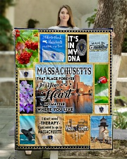 """MASSACHUSETTS IT'S IN MY DNA Quilt 50""""x60"""" - Throw aos-quilt-50x60-lifestyle-front-03"""