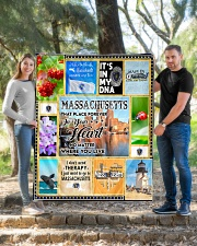 """MASSACHUSETTS IT'S IN MY DNA Quilt 50""""x60"""" - Throw aos-quilt-50x60-lifestyle-front-04"""