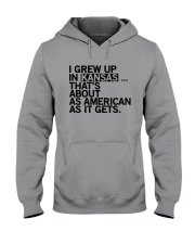 I GREW UP IN KANSAS Hooded Sweatshirt tile