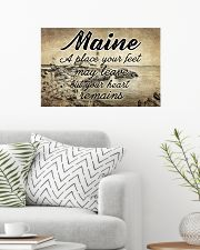 MAINE PLACE YOUR HEART REMAINS 24x16 Poster poster-landscape-24x16-lifestyle-01