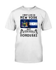 LIVE IN NEW YORK BEGAN IN HONDURAS Classic T-Shirt tile