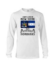 LIVE IN NEW YORK BEGAN IN HONDURAS Long Sleeve Tee thumbnail