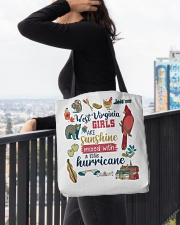 WEST VIRGINIA GIRLS SUNSHINE MIXED HURRICANE All-over Tote aos-all-over-tote-lifestyle-front-05
