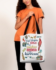 WEST VIRGINIA GIRLS SUNSHINE MIXED HURRICANE All-over Tote aos-all-over-tote-lifestyle-front-06