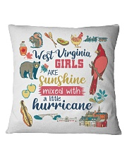 WEST VIRGINIA GIRLS SUNSHINE MIXED HURRICANE Square Pillowcase thumbnail