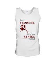 WYOMING GIRL LIVING IN ALASKA WORLD Unisex Tank thumbnail
