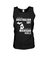 JUST AN AUSTRALIAN GUY LIVING IN MICHIGAN WORLD Unisex Tank thumbnail